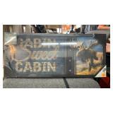Light up sign cabin sweet cabin