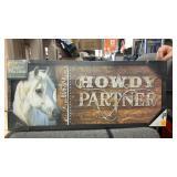 Light up sign howdy partner