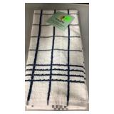 Blue jumbo kitchen towel