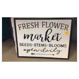 Fresh Flower Market Metal sign heavy duty