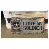 I Love My Soldier License Plate