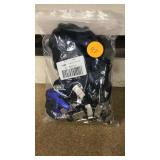 Navy blue lanyards with ID badge clip ends no