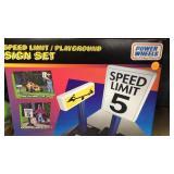 Power wheels speed limit playground signs set
