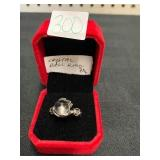CRYSTAL BALL RING SIZE 7.5