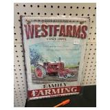 """11 X 16"""" METAL EMBOSSED SIGN - READY TO HANG"""