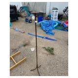 """METAL CANDLE HOLDER APPROX 40"""" HIGH"""