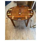 WOOD FOLDING SERVING TABLE