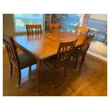SOLID WOOD DINING SET WITH 6 CHAIRS