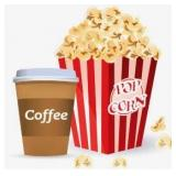 Dont Forget Your Popcorn, Coffee, and Punch card