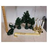 Battery operated fiber optic Christmas trees and