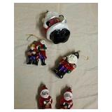 5 Glass Santa Claus ornaments