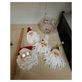 Santa Claus head ornaments