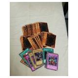 Group of collectible Yu-Gi-Oh trading cards