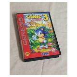 Sega Genesis Sonic the Hedgehog 3 game