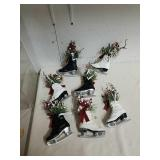 7 ice skate holiday decor items