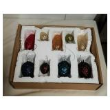 Vintage pine cone glass colorful ornaments