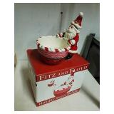 Fitz & Floyd holiday sweet holiday Santa dish