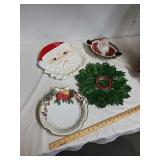 4 Christmas serving platters
