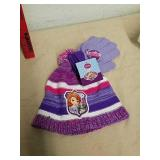 New Disney Sofia the First Hat and glove set