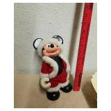 Vintage Mickey Mouse Santa doll