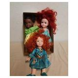 3 Disney princess dolls