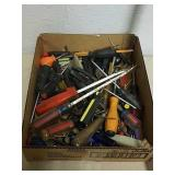 Group of screwdrivers and more