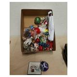 Group of Christmas ornaments and decor