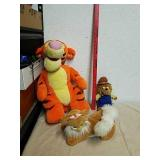 Stuffed Tigger with Berenstain Bear and stuffed