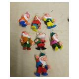 Vintage Seven Dwarfs ornaments