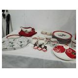 Group of Royal Seasons stoneware snowman dishes