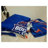Boise State full size comforter and blanket set