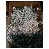 Large box full of Christmas lights