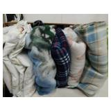 Group of blankets and sheets