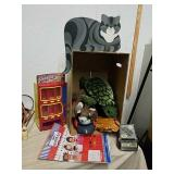 Baseball mitt, stuffed toys, photo booth kit,