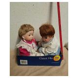 2 collectible baby dolls