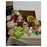Group of stuffed toys and more