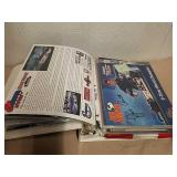 Binder full of nicely kept race car Flyers lots