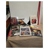 Group of collectible drag racing memorabilia