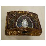 Decorative beaded jewelry box crafted in India