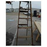Wood 8 foot ladder