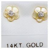 14 K YELLOW GOLD DIAMOND (0.1 CTS) W-