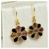 GOLD PLATED STERLING SILVER TOURMALINE