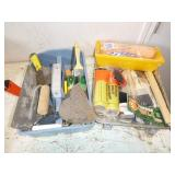 PAINT SUPPLIES & ASSORTED DRYWALL TOOLS