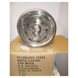 STAINLESS STEEL WHEEL COVERS (2)