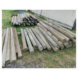 Wood Peg Post Fencing