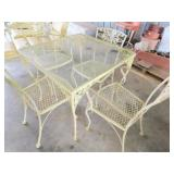 iron patio table w/chairs