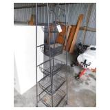 Stand with 5 wire baskets