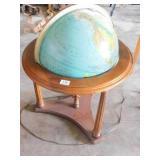 Wood Frame Globe w/light