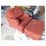 Large Occasional Chair & Ottoman