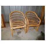 2-Rattan chairs